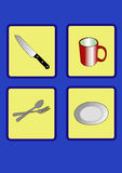Icon cookware Stock Photo