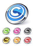 Icon copyright Royalty Free Stock Photo