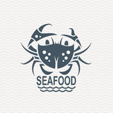 Icon with crab Royalty Free Stock Image