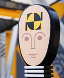 Icon   of a crash test dummy Royalty Free Stock Image