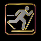 Icon - cross country Stock Photography