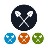 Icon of a Crossed Shovels Royalty Free Stock Photo