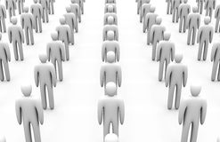 Icon Crowd Royalty Free Stock Images