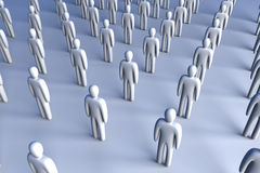 Icon Crowd. 3D Illustration. Anonymous Icon Crowd Stock Images