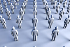 Icon Crowd. 3D Illustration. Anonymous Icon Crowd Stock Photography