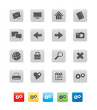 Icon_cube_gray01 Stock Images