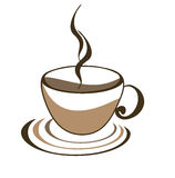 Icon of cup of coffee Stock Photo