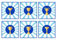 Icon cup, colored logo, vector royalty free illustration