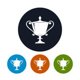 Icon cup of winner,icon gold trophy cup Royalty Free Stock Photos