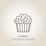 Icon  cupcake. Icon cupcake. Line style. Flyer or postcard. Vector illustration Stock Photo