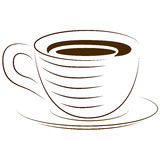 Icon cups. A cup of hot drink. Vector icon. Royalty Free Stock Photos