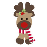 reindeer tail template - baby reindeer card stock vector image 46279890