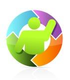 Icon cycle illustration design Stock Photo