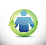 Icon cycle illustration design Royalty Free Stock Photo