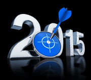 2015 icon. 3d rendering of a 2015 icon stock illustration