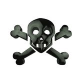 Icon dead skull head Stock Photography