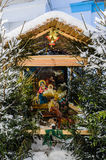 Icon, decorated with fir branches. Icon near the temple of Archangel Michael in the village of Kutepov Stock Photo