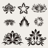 Icon decorative ornament vector Royalty Free Stock Photography