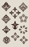 Icon decorative set vector Stock Photo