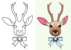Icon of deer-2 Royalty Free Stock Image