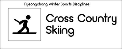 Icon depicting Cross Country Skiing discipline of winter sports Royalty Free Stock Photography