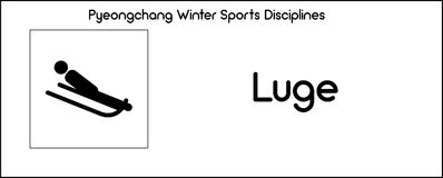 Icon depicting Luge discipline of winter sports games in Pyeongc Royalty Free Stock Photo