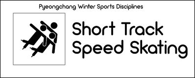 Icon depicting Short Track Speed Skating discipline of winter sp Royalty Free Stock Image