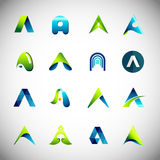 Icon design based on letter A Royalty Free Stock Photography