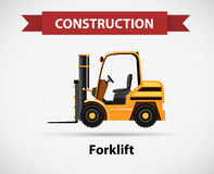 Icon design for construction with forklift truck. Illustration Royalty Free Stock Photography