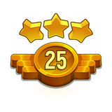 Icon of design elements for app, game development, interface. Golden achievement. Stock Photos