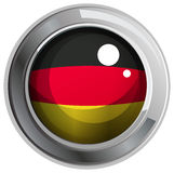 Icon design for flag of Germany Royalty Free Stock Images