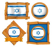 Icon design for flag of Israel Royalty Free Stock Images
