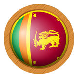 Icon design for flag of Sri Lanka Royalty Free Stock Photography