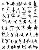 Icon design for many type of sports Stock Photos