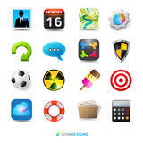 Icon Design Set Stock Photography