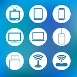 Icon device technology and electronic Royalty Free Stock Image