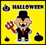Icon Devil businessman dracula card poster background Stock Images