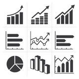 Icon of diagram and graphs Business Royalty Free Stock Photo
