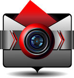 Icon digital cam Stock Photography