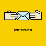 Icon direct marketing Royalty Free Stock Photography