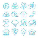 Icon disasters. Nature disaster. Royalty Free Stock Photos