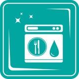Icon dishwasher symbol Royalty Free Stock Photo