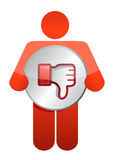 Icon dislike thumbs down Royalty Free Stock Photos