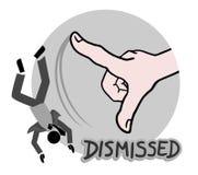 Icon dismissed Stock Image