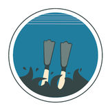 Icon of diving Stock Image
