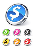 Icon dollar. Clipart illustration design Royalty Free Stock Photos