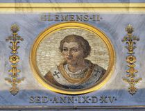 Pope Clement II. The icon on the dome with the image of Pope Clement II, born Suidger von Morsleben, was Pope from 25 December 1046 until his death in 1047 Stock Photos