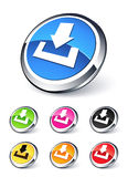 Icon download. Collection clipart illustration Royalty Free Stock Image