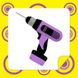 Icon drills for repair Royalty Free Stock Photo