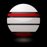 Icon droid dark Royalty Free Stock Images